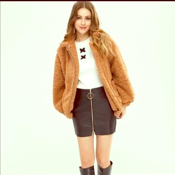 f769790767 Zaful Jackets & Coats   Sherpafaux Fur Teddy Coat   Poshmark